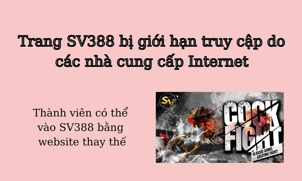 Trang SV388 chặn tài khoản người chơi